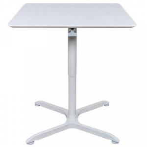 "Luxor ""Luxor LX-PNADJ-32SQ 31 1/2"""" Square Pneumatic Adjustable Height Cafe Table"""