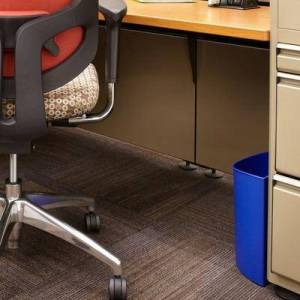 Safco 9927BB 3 Gallon Dual Black / Blue Round Recycle Can / Wastebasket