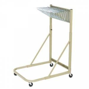 "Safco ""Safco 5026 Sand Steel Sheet File Mobile Rack with 12 Hanging Clamp Spaces - 27"""" x 37 1/2"""" x 61 1/2"""""""