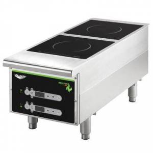 Vollrath 912HIDC Cayenne Heavy Duty Double Induction Hot Plate with Digital Controls - 208/240V, 2900W