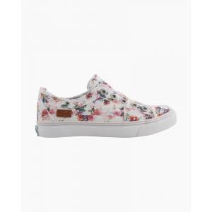Blowfish Play Sneakers in White Floral Canvas