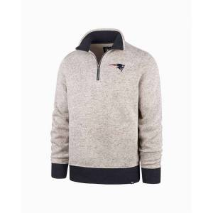 '47 New England Patriots Men's Kodiak Quarter Zip Sweater