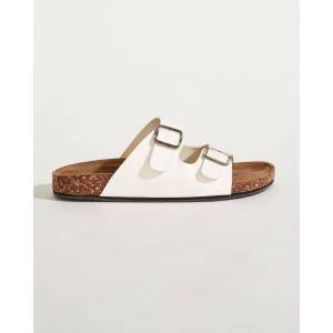 Tidewater Sandals Buckle Strap Sandals in White