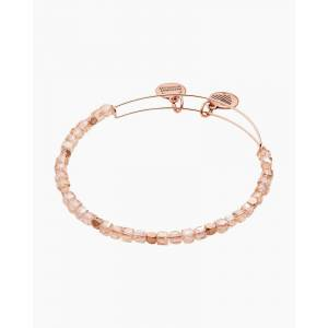 ALEX AND ANI Soft Pink Balance Bead Bangle in Rafaelian Rose Gold Finish