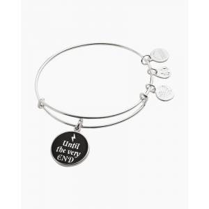 ALEX AND ANI Harry Potter Until the Very End Bangle in Shiny Silver Finish