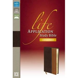 NIV Life Application Study Bible (Thumb Indexed, Large Print, Chocolate/Tan Italian Duo-Tone)
