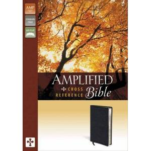 Amplified Cross-Reference Bible (Black Bonded Leather)