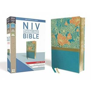 NIV Large Print Thinline Bible (Turquoise Leathersoft)