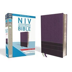 NIV Thinline Bible (Purple/Plum Leathersoft, Large Print)