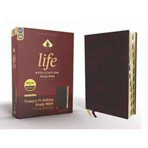 NIV Life Application Study Bible (3rd Edition, Thumb Indexed, Burgundy Bonded Leather)