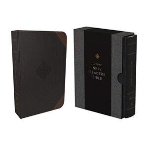 NKJV Deluxe Reader's Bible (1563BK, Black Leathersoft)