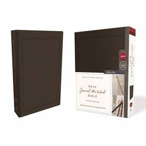 NKJV Journal the Word Bible (8585BR - Brown Bonded Leather)