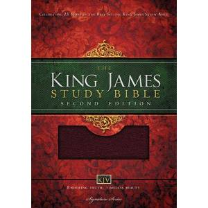 King James Study Bible (0135NBGI, Burgundy Bonded Leather, Thumb Indexed, 2nd Edition)