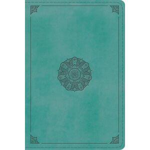 ESV Study Bible Personal Size (TruTone Turquoise, Emblem Design)