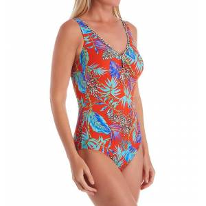 Anita 7232 African Heat Camilla One Piece Swimsuit (Coral 40E)