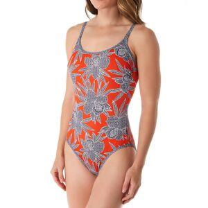 Anita 7763 Bahia Floral Marinet One Piece Swimsuit (Papaya 36E)