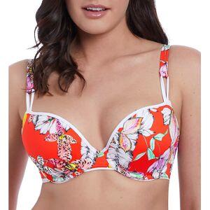 Freya AS5882 Wild Flower Underwire Deco Bikini Swim Top (Flame 30DD)