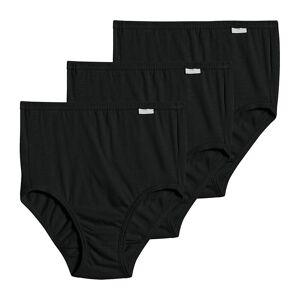 Jockey 1484 Elance Classic Fit Brief Panty - 3 Pack (Black/Black/Black 10)