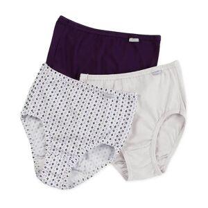 Jockey 1484 Elance Classic Fit Brief Panty - 3 Pack (Plum/Diamond/White 10)
