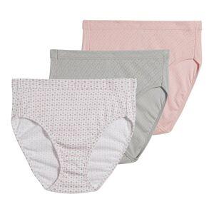 Jockey 1541 Elance Breathe French Cut Panty - 3 Pack (Silver/Dot/Rose 10)