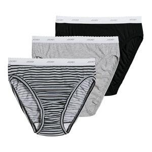 Jockey 9480 Classics Classic Fit French Cut Panty - 3 Pack (Grey/Stripe/Black 10)