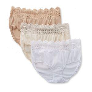 Olga 913J3 Secret Hug Scoop Hipster Panty - 3 Pack (FrenchToastBlushWhite 10)