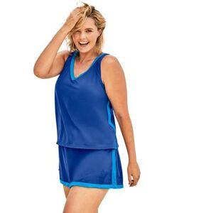Swim 365 Plus Size Women's 2-Piece Swim Skirtini Set by Swim 365 in Dream Blue Sea (Size 34)