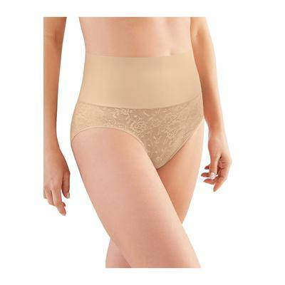 Maidenform Plus Size Women's Tame Your Tummy Brief by Maidenform in Nude Transparent Lace (Size L)