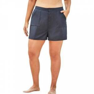 Swimsuits For All Plus Size Women's Cargo Swim Short by Swimsuits For All in Navy (Size 26)