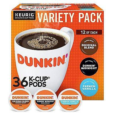 Dunkin' Donuts Dunkin Donuts Variety Pack K-Cup Pods 36 Ct. Coffee