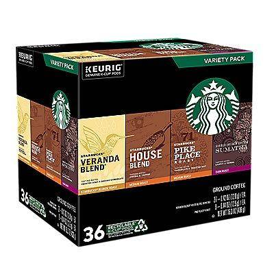 Starbucks Variety Pack K-Cup Pods 36 Ct. Coffee