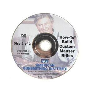 """American Gunsmithing Institute (AGI) """"American Gunsmithing Institute (AGI) Video """"""""Build Your Own Custom Mauser Rifle"""""""" 2 Volume Set DVD"""""""