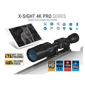ATN X-Sight 4K Pro Series Smart HD Digital Day/Night Rifle Scope 3-14x with HD Video Recording, Wi-Fi, GPS, Smooth Zoom, Smartphone Control via iOS o