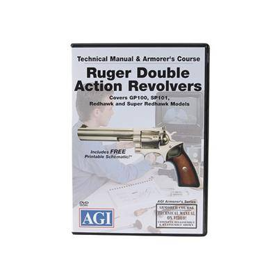 """American Gunsmithing Institute (AGI) """"American Gunsmithing Institute (AGI) Technical Manual & Armorer's Course Video """"""""Ruger Double Action Revolvers"""""""" DVD"""""""