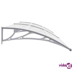 """vidaXL Door Canopy Gray 118.1""""x39.4"""" PC  - Grey"""