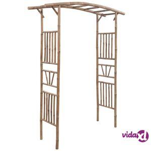 "vidaXL Rose Arch Bamboo 57.1""x15.7""x73.6""  - Brown"