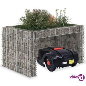 """vidaXL Lawn Mower Garage with Raised Bed 43.3""""x31.5""""x23.6"""" Steel Wire"""