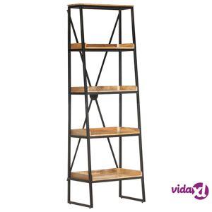 "vidaXL 5-Tier Bookshelf 23.6""x15.4""x131.5"" Solid Mango Wood  - Brown"