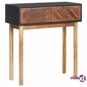 """vidaXL Console Table 27.6""""x11.8""""x29.5"""" Solid Acacia Wood and MDF  - Brown"""
