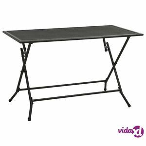 "vidaXL Folding Mesh Table 47.2""x23.6""x28.3"" Steel Anthracite  - Anthracite"