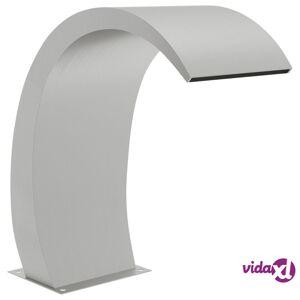 "vidaXL Pool Fountain 11.8""x23.6""x27.6"" Stainless Steel 304  - Silver"