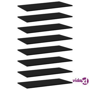 """vidaXL Bookshelf Boards 8 pcs Black 31.5""""x15.7""""x0.6"""" Chipboard  - Black"""