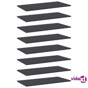 "vidaXL Bookshelf Boards 8 pcs Gray 31.5""x15.7""x0.6"" Chipboard  - Grey"