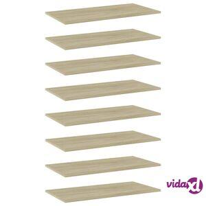 """vidaXL Bookshelf Boards 8 pcs Sonoma Oak 31.5""""x15.7""""x0.6"""" Chipboard  - Brown"""