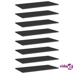 "vidaXL Bookshelf Boards 8 pcs High Gloss Black 31.5""x15.7""x0.6"" Chipboard  - Black"