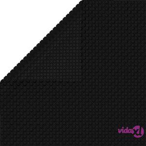 Floating Rectangular PE Solar Pool Film 26.3 x 16.5 ft Black  - Black