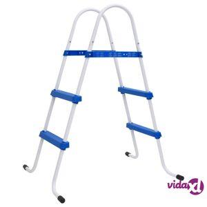 """vidaXL Steel Frame Pool Ladder Non-Slip Steps 34.0""""  - Blue"""
