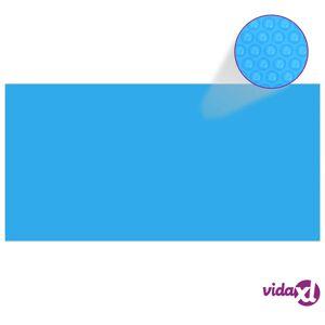vidaXL Rectangular Pool Cover 216 x 108 inch PE Blue  - Blue