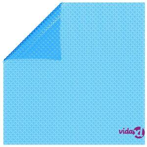 vidaXL Rectangular Pool Cover 288 x 144 inch PE Blue  - Blue
