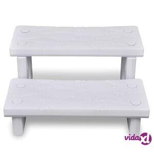 vidaXL White Spa Steps  - White